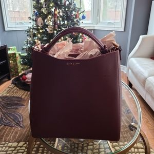 Love and Lore Burgundy Tote